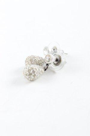 Swarovski Oorstekers zilver elegant
