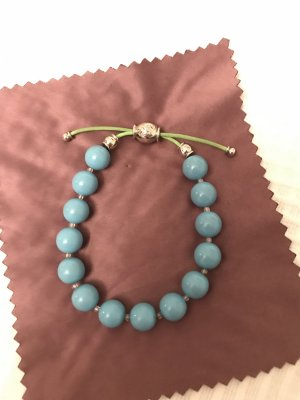 Swarovski Perlenarmband blau/ grün