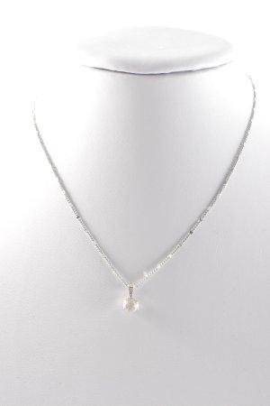 Swarovski Pearl Necklace silver-colored elegant