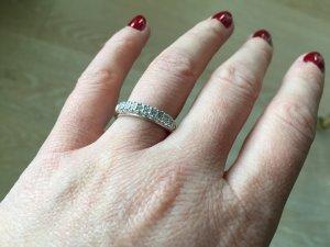 Swarovski-Ring aus Silber