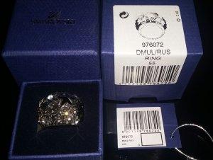 Swarovski Ring Fizz Sterne in klar u. jet schwarz Kristallsterne 976072 DMUL/RUS