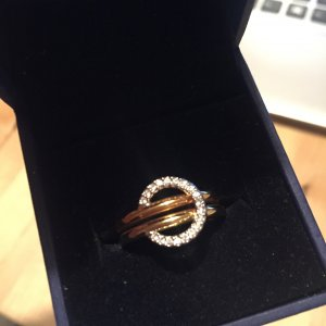 Swarovski Ring Gold/Rose