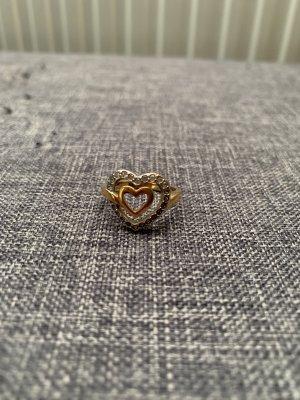 Swarovski Ring Gold Silber Herz Größe 55