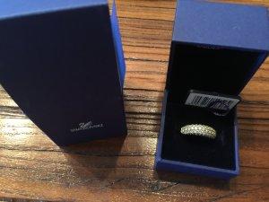 Swarovski-Ring goldfarbend mit Kristallen
