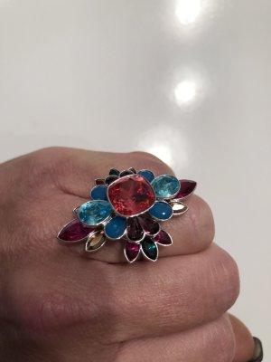 Swarovski Zilveren ring veelkleurig