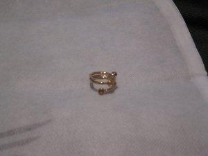 Swarovski Ring in Gold mit braunen Kristallen