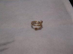 Swarovski Ring in Gold mit honiggelben Kristallen