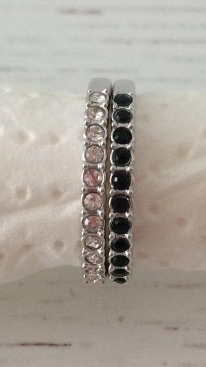 Swarovski Ring klar und schwarz