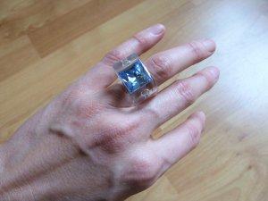 Swarovski Ring mit hellblauem Stein