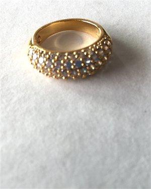 Swarovski-Ring, vergoldet und mit Steinen besetzt