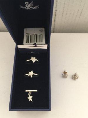 Swarovski-Ringe mit passenden Ohrringen
