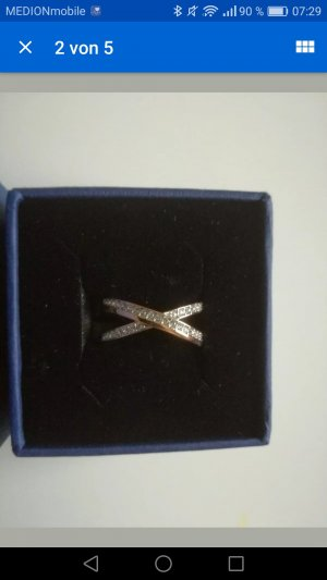 Swarovski Rosegoldener Ring neu Größe 55