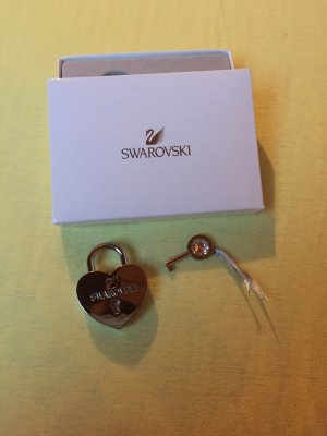 Swarovski Key Chain silver-colored-light grey