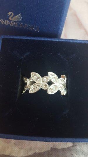 Swarovski Schmetterling Ring silber