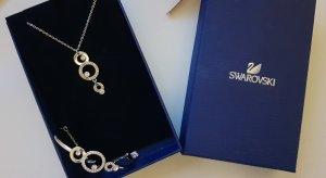 Swarovski Zilveren ketting zilver-goud