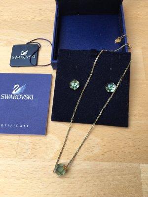 Swarovski Oorstekers goud-groen