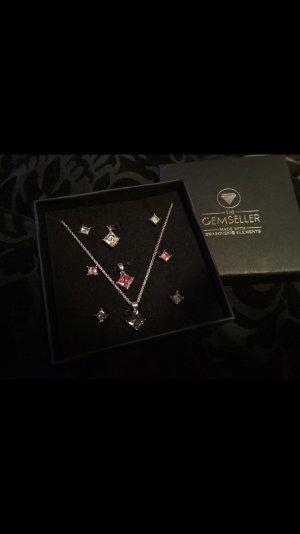 Swarovski Set - 3 Halsketten - 3 Ohrringe - NEU - geschenk