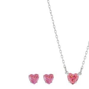 Swarovski Set Herz Pink