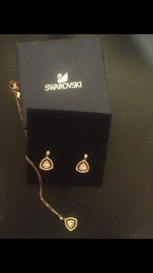 Swarovski Set mit Kette und Ohrringen in Gold