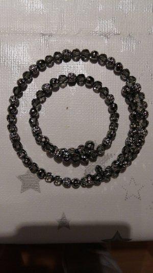 Swarovski Set schwarz glänzend