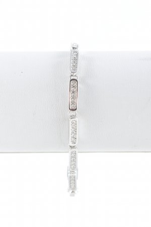 Swarovski Bracelet en argent argenté élégant