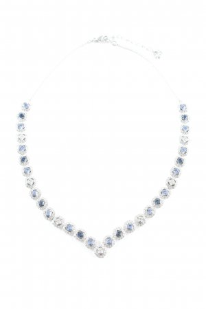 Swarovski Cadena de plata color plata elegante