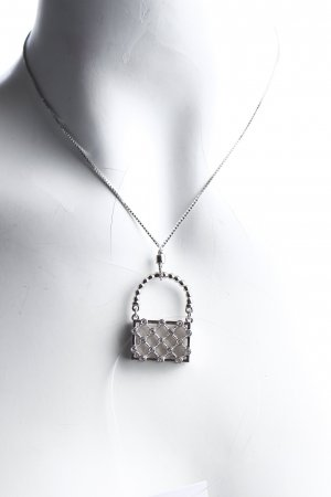 Swarovski Silberkette silberfarben Glitzer-Optik