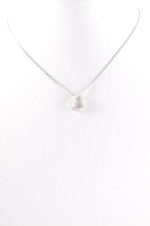 Swarovski Silberkette silberfarben-hellbeige Glanz-Optik