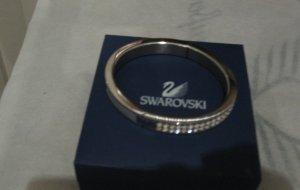 Swarovski silberner Armreif mit weissen Kristallen, schön, elegant