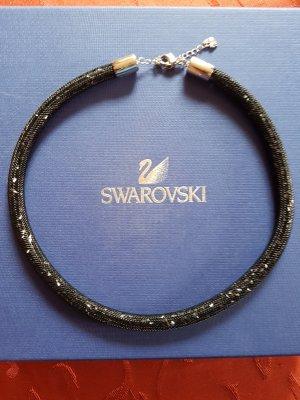 """SWAROVSKI """"Stardust"""" Kette /schwarz!"""