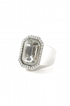 Swarovski Statement Ring sage green-silver-colored elegant
