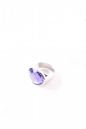 Swarovski Statement Ring silver-colored-lilac extravagant style