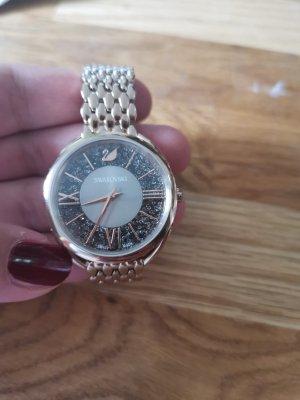 Swarovski Horloge met metalen riempje zilver-roségoud