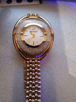 Swarovski Horloge met metalen riempje wit-goud