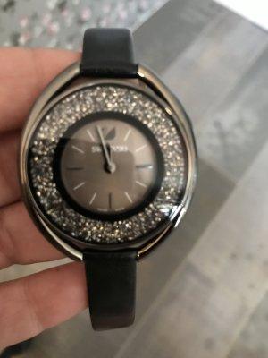 Swarovski Uhr schwarz Glitzer
