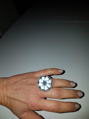 *Swarowski-Element* Statement Ring meets Edelstahl