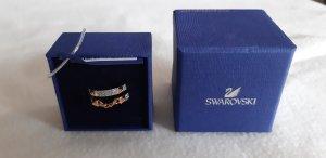 Swarovski Gold Ring rose-gold-coloured real silver