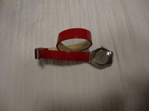 Swatch 100% Original rot Lackleder