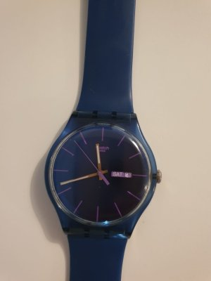 Swatch Analog Watch steel blue