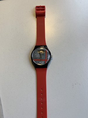 Swatch Self-Winding Watch red synthetic material