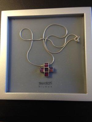 Swatch Bijoux Silberkette mit Kreuzanhänger