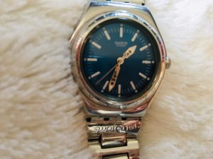 Swatch blau Damen Uhr