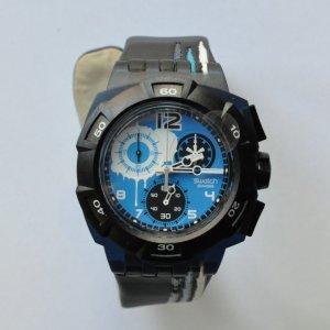 Swatch Reloj azul oscuro-negro