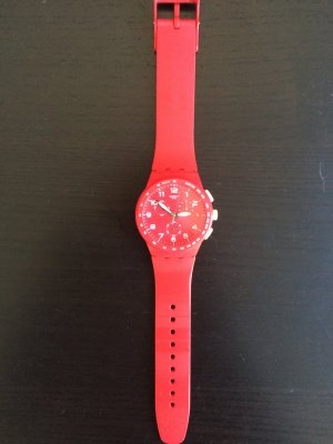Swatch Chronograph in Rot, TOP ZUSTAND