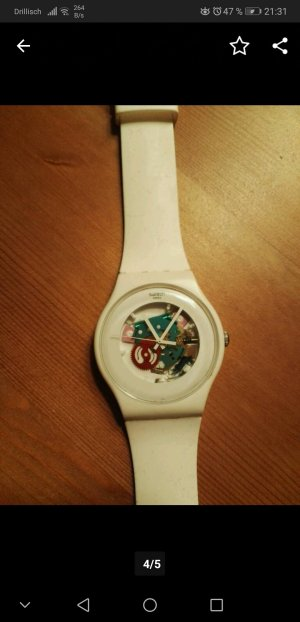 Swatch Damen-Armbanduhr New Gent - White Lacquered SUOW100
