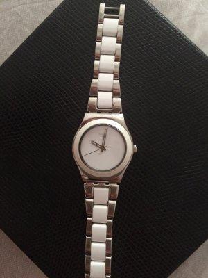 Swatch Orologio con cinturino di metallo bianco-argento Acciaio pregiato