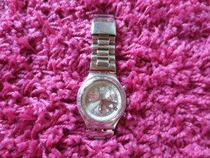 Swatch Irony Chrono, Silber, Datumsanzeige, Metallband, neue Batterie