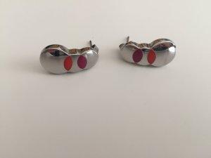 Swatch Ohrringe Kreisform mit zwei bunten Farben