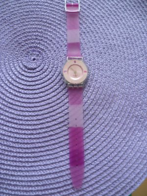 Swatch Watch raspberry-red stainless steel