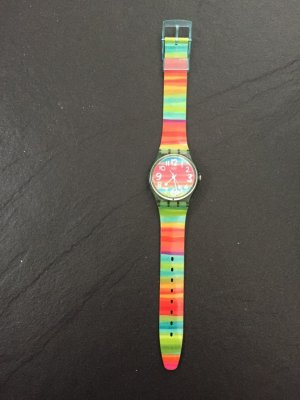 Swatch Analog Watch green-neon red